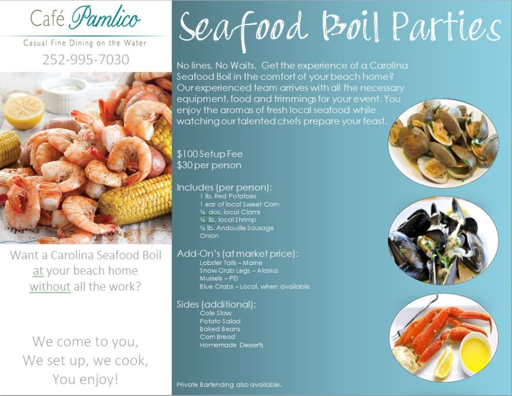 Seafood-Boil-Party - The Inn On Pamlico Sound